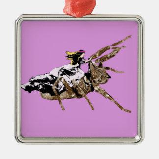 Ornement Carré Argenté princesse d'araignée