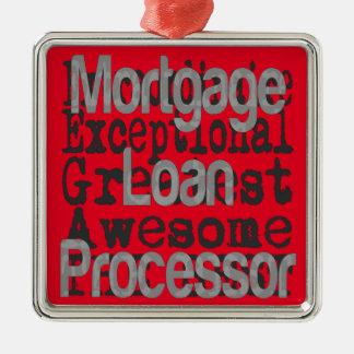 Ornement Carré Argenté Processeur de prêt hypothécaire Extraordinaire