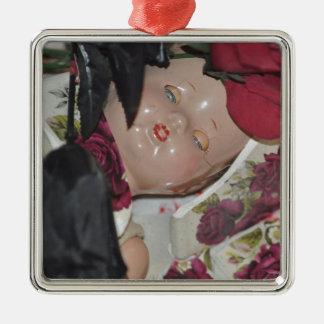 Ornement Carré Argenté Produits de poupée