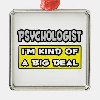 Ornement Carré Argenté Psychologue. Je suis un peu une affaire