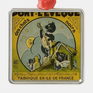 Ornement Carré Argenté Publicité française vintage