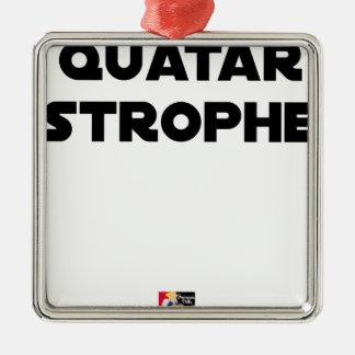 Ornement Carré Argenté QUATAR STROPHE - Jeux de mots - Francois Ville