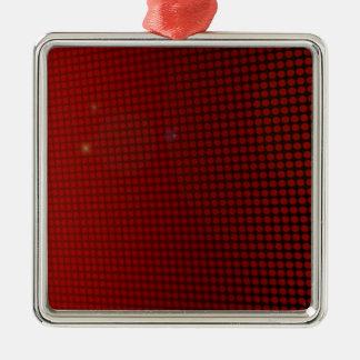 Ornement Carré Argenté red halo
