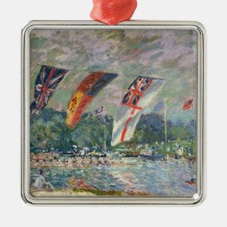 Ornement Carré Argenté Régate d'Alfred Sisley | chez Molesey