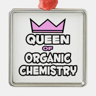 Ornement Carré Argenté Reine de chimie organique