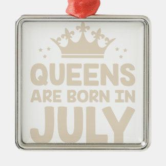 Ornement Carré Argenté Reine de juillet