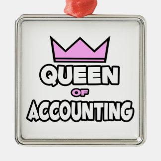 Ornement Carré Argenté Reine de la comptabilité