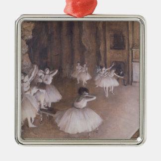 Ornement Carré Argenté Répétition de ballet d'Edgar Degas   sur l'étape,