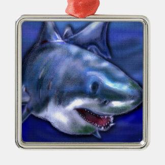 Ornement Carré Argenté Requin