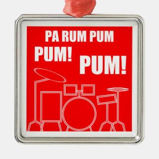 Ornement Carré Argenté Rhum Pum Pum Pum de PA