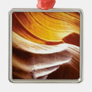Ornement Carré Argenté roches bronzages du soleil d'orange