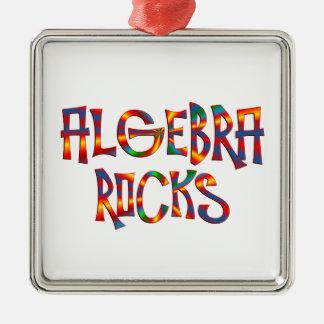 Ornement Carré Argenté Roches d'algèbre