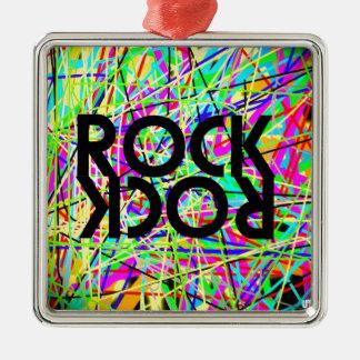 Ornement Carré Argenté Rock