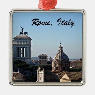Ornement Carré Argenté Rome, Italie