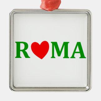 Ornement Carré Argenté Rome ville éternelle
