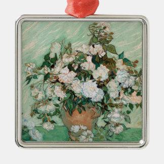 Ornement Carré Argenté Roses de Vincent van Gogh |, 1890