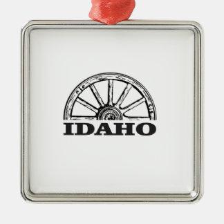 Ornement Carré Argenté Roues de l'Idaho