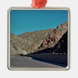 Ornement Carré Argenté Route de montagne en Arizona