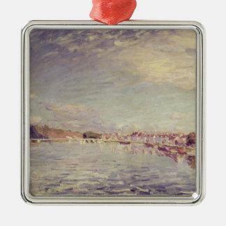 Ornement Carré Argenté Saint-Mammes d'Alfred Sisley  