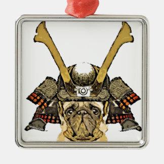 Ornement Carré Argenté samurai_pug