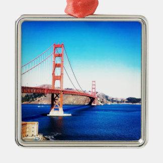 Ornement Carré Argenté San Francisco golden gate bridge la Californie
