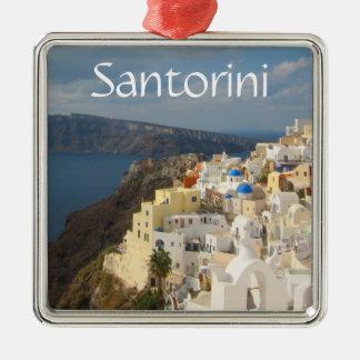 Ornement Carré Argenté Santorini pendant l'après-midi Sun