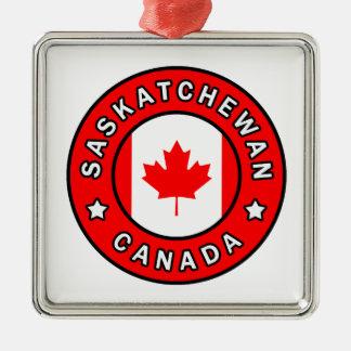 Ornement Carré Argenté Saskatchewan Canada