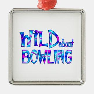Ornement Carré Argenté Sauvage au sujet du bowling