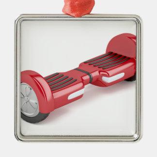Ornement Carré Argenté Scooter de auto-équilibrage rouge
