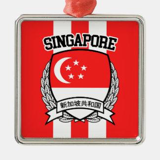 Ornement Carré Argenté Singapour