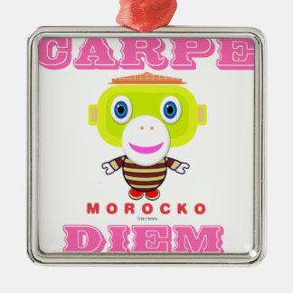 Ornement Carré Argenté Singe-Morocko Diem-Mignon de Carpe