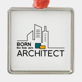 Ornement Carré Argenté Soutenu pour être un architecte