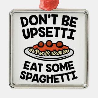 Ornement Carré Argenté Spaghetti d'Upsetti