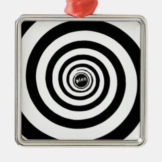 Ornement Carré Argenté spirale #3