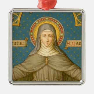 Ornement Carré Argenté St Clare d'Assisi (SAU 27)