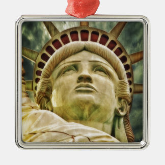 Ornement Carré Argenté Statue de la liberté