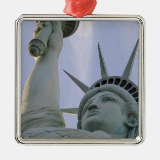 Ornement Carré Argenté Statue de la liberté des Etats-Unis de liberté de