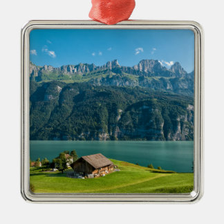 Ornement Carré Argenté Suisse