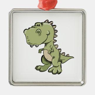 Ornement Carré Argenté T-Rex