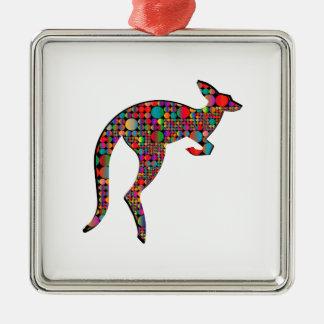 Ornement Carré Argenté Tailles de kangourou