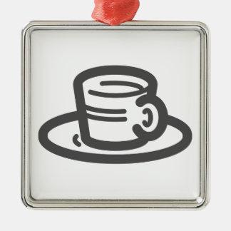Ornement Carré Argenté Tasse de café