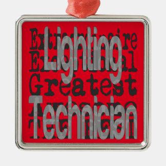 Ornement Carré Argenté Technicien d'éclairage Extraordinaire