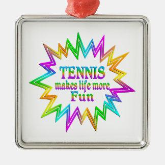 Ornement Carré Argenté Tennis plus d'amusement