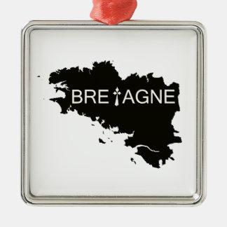 ORNEMENT CARRÉ ARGENTÉ TERRE DE BRETAGNE