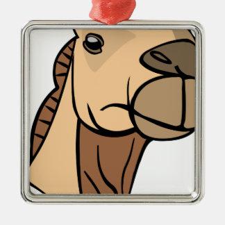 Ornement Carré Argenté Tête de chameau