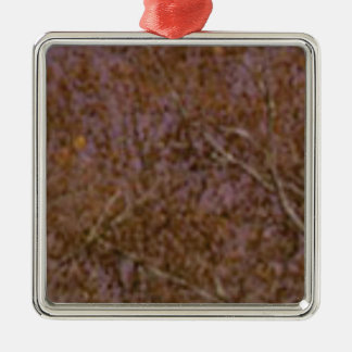 Ornement Carré Argenté texture approximative de feuille