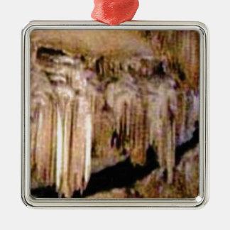 Ornement Carré Argenté texture de pilier dans les roches