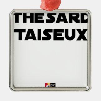 Ornement Carré Argenté THÉSARD TAISEUX - Jeux de mots - Francois Ville