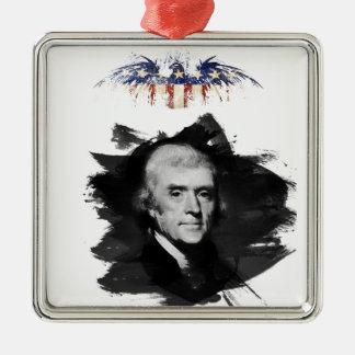Ornement Carré Argenté Thomas Jefferson