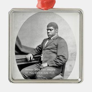 """Ornement Carré Argenté Thomas """"Tom aveugle"""" Wiggins, 1860"""